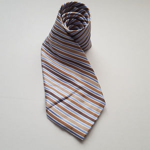 Stafford Exclusive Mens Striped Silk Necktie Tie